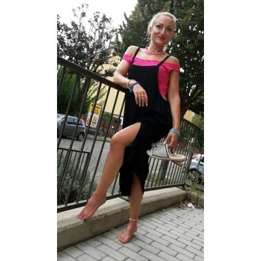 Vestito salopette nero | Naomi