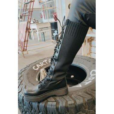Anfibi alti gambale elastico | Platinum