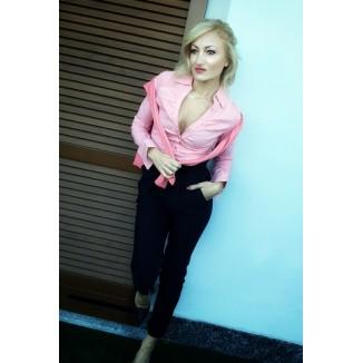 Camicia rosa aderente | Selly