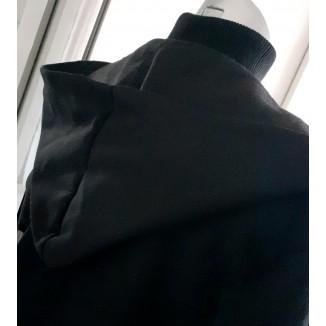 Cappotto nero con cappuccio | Luisella