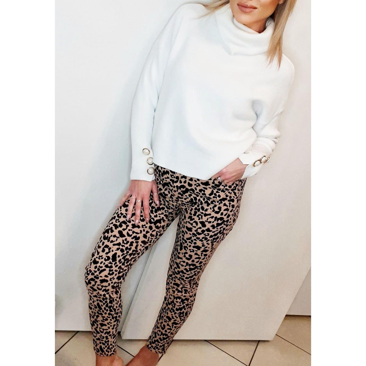 Jeans skinny fantasia maculata | Jessy