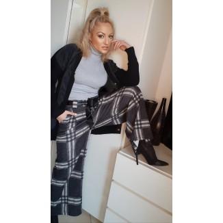 Pantalone scozzese modello a campana | Linda