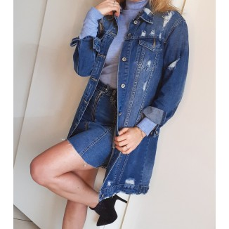 Giacca lunga di jeans | Asia