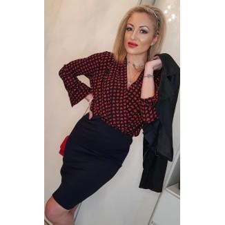 Body-camicetta con cuori rossi | Valentina