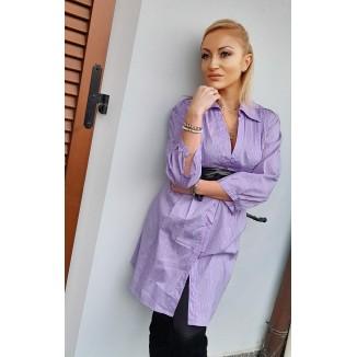 Maxi camicia - mini abito lilla a righe