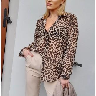 Camicia fantasia animalier | Pussy