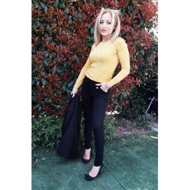 Pantalone elegante nero a sigaretta  