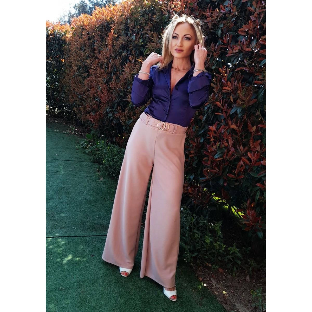 Pantalone a campana rosa | Lea