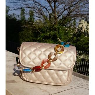 Mini borsetta con catena colorata | Cindy