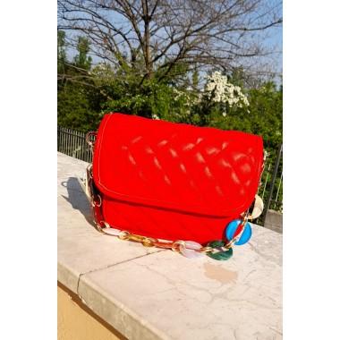 Mini borsetta con catena colorata |
