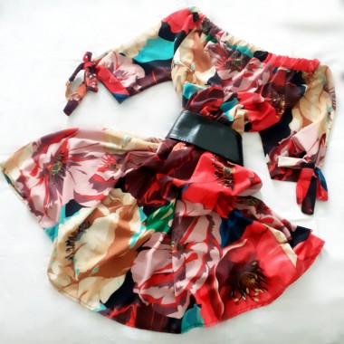 Mini abito sciancrato fiorato | Giada