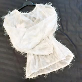 Casacca bianca sfrangiata | Serena
