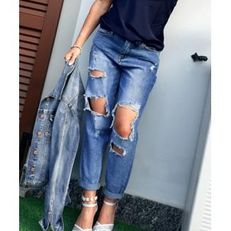 Jeans strappato boy-friend   Vanessa
