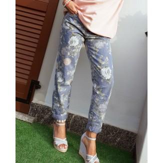 Jeans boy-friend stampa floreale | Sissy