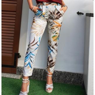Pantaloni sigaretta stampa floreale | Sofi