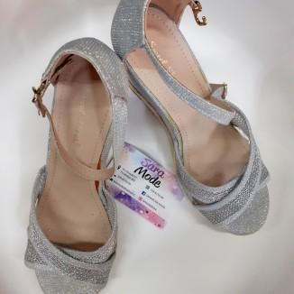 Scarpe eleganti con zeppa argento | Elle