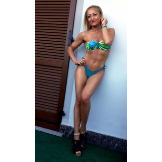 Bikini verde stampa floreale | Lillibeth