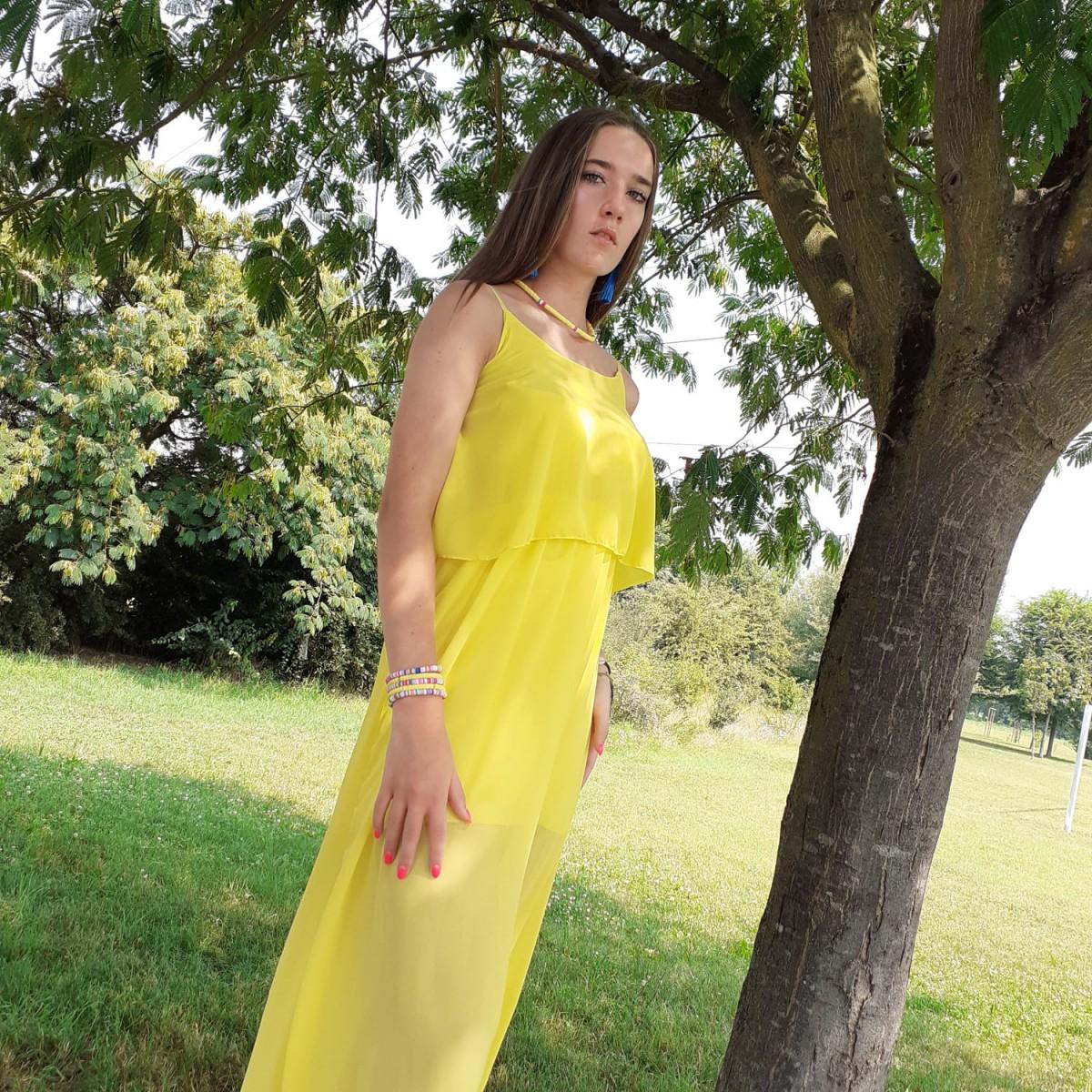 Abito lungo giallo | Stelly