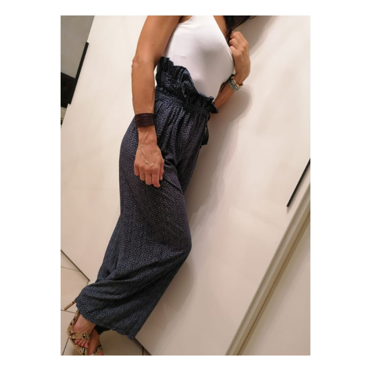 Pantalone di cotone fiorato | Stefy